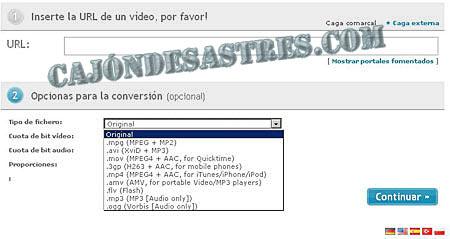 conversor de videos online