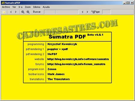 sumatra pdf visosr de archivos pdf