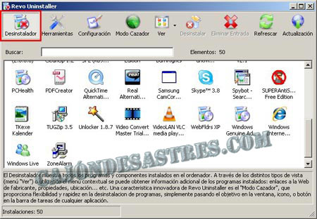 desinstalr programas en windows