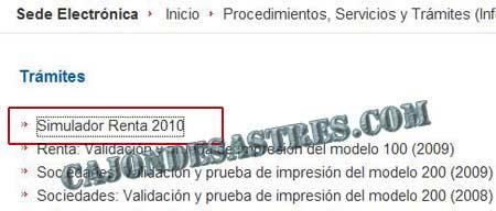 Simulador declaraci n de la renta 2011 caj n desastres for Oficina virtual de la agencia tributaria