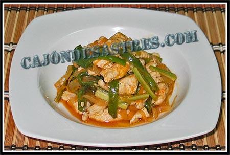 Cocina Con Verduras | Tiritas De Pollo Con Verdura Salteadas Cocina Facil Cajon Desastres