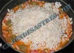 receta de arroz con jamon serrano, panceta y alcachofas