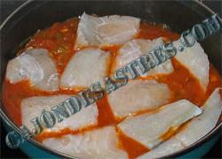 receta de bacalao con mejillones en salsa