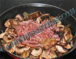 receta de champis con bacon