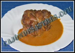 receta de codillo macerado en salsa