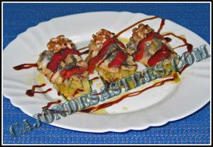 receta de lomos de sardina sobre cama de verdura