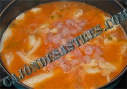 receta panga con gambas
