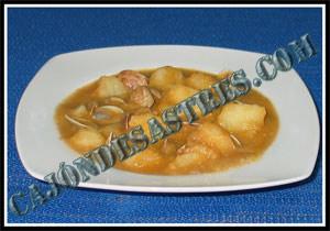 Receta de guiso de patatas con almejas