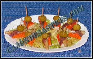 aperitivo de surimis con anchoa