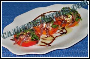 Receta de ensalada de tomate y anchoas