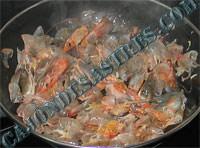 receta de alubias con langostinos