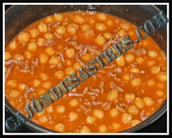 receta de garbanzos con carne picada y especias morunas