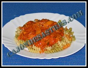 Receta de macarrones con pollo asado