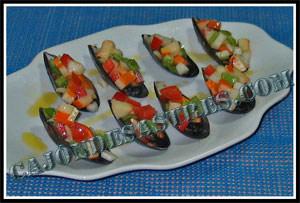 receta de mejillones en pipirrana