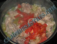 receta guisadillo pollo con patatas