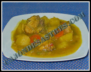 receta de pollo guisado con patatas