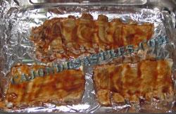costillar asado con salsa barbacoa