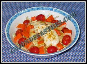 receta de ensalada de col con salsa de yogur al curry