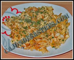 receta de revuelto de bacalao con patatas y cebolla