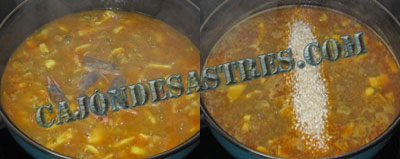 receta de arroz con calamares y magro