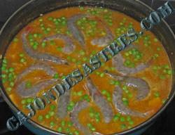 Arroz con magro y calamares receta