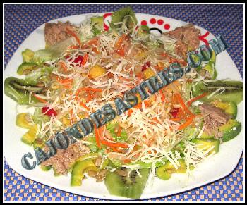 receta de ensalada de aguacate y kiwi