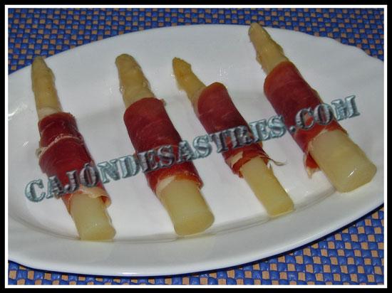 Receta de esparragos con jamon serrano