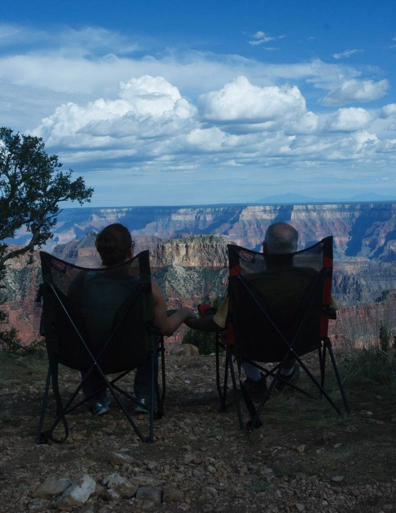 Grand Canyon sunset enjoyed from our front row seat at Point Sublime