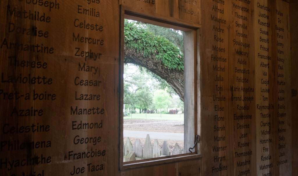 This list of names is a respectful recognition of the people on whose backs this plantation was built. For most of them, a name is all that remains of their story.