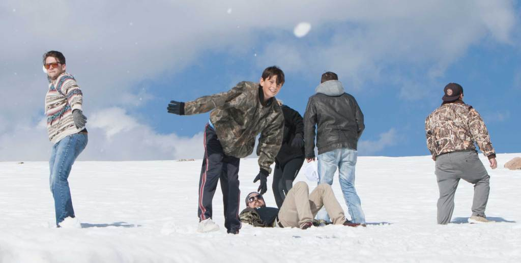 This is the first time some of these Cajuns have seen snow. Someone should have told them that the photographer is not a target.