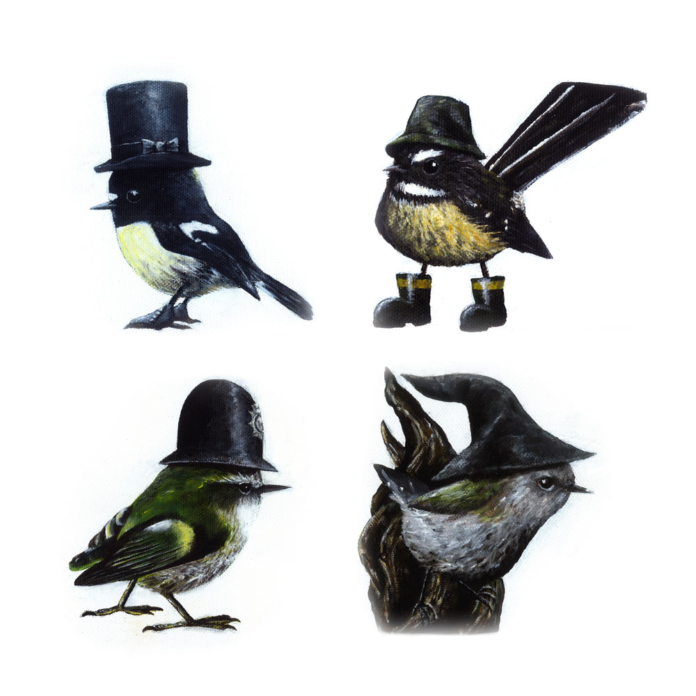 Birds in Hats