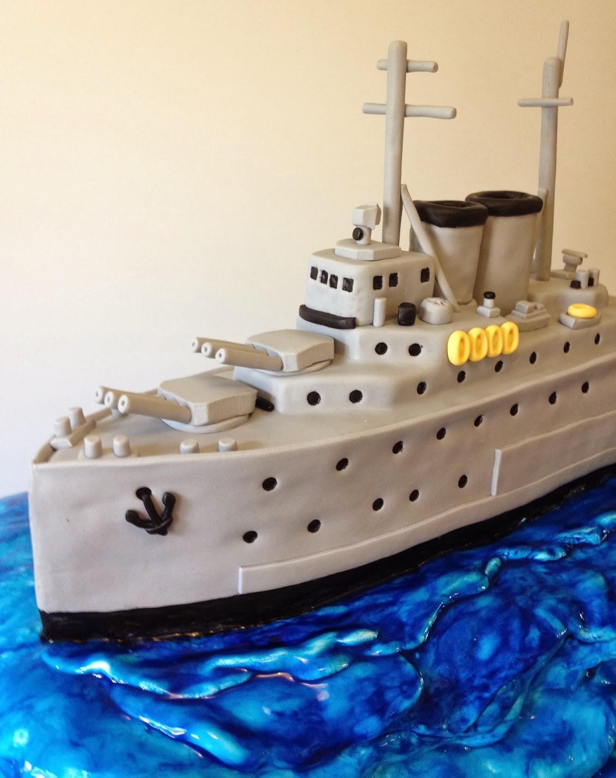 Ship Birthday Cake