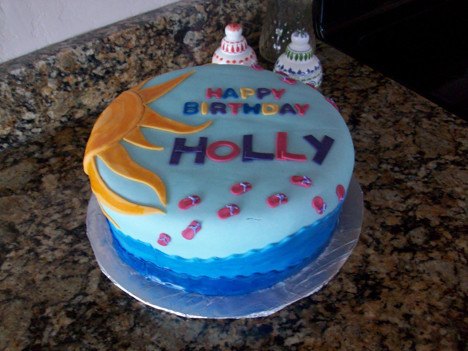 Water Birthday Cakes