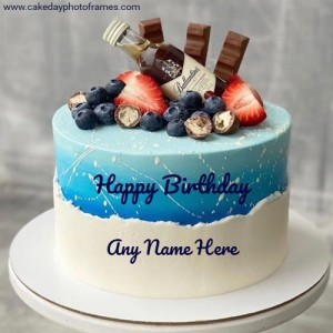 Happy Birthday Cake With Name Edit Free Download Cakedayphotoframes