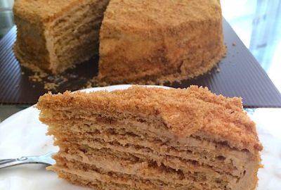 medovik kue biskuit lapis madu cakefever