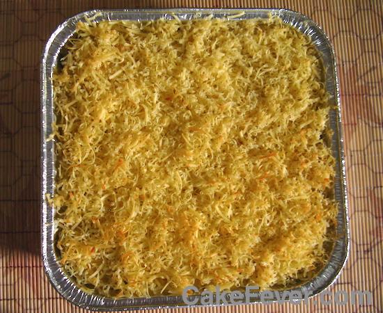 Macaroni Schotel dengan Topping Keju Cheddar