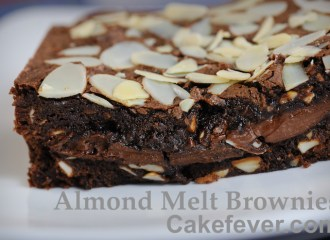 Almond Melt Brownies. Foto:Cakefever.com