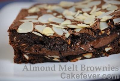 Almond Melt Brownies. Foto:Cakefever.com