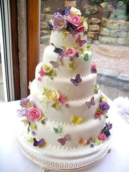 Butterfly Decorations on Cakes   Cake Trend Tuesday   CakeFlix Butterfly Wedding Cakes