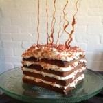 Toffee encrusted Blood Orange Cake