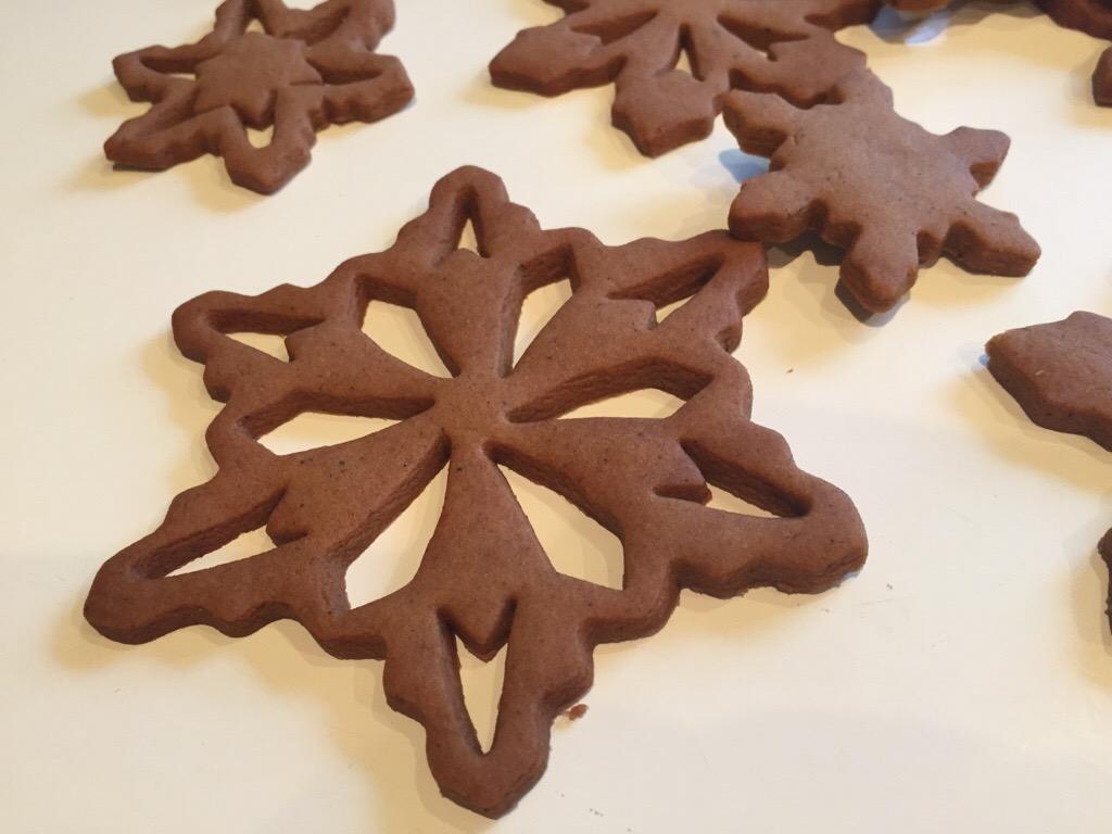 Gingerbread Snowflake Cookies Cakeophilia