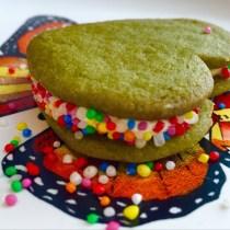 Jealous Heart Matcha Cookie Sandwiches
