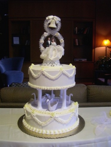 Wedding Cake With Swans