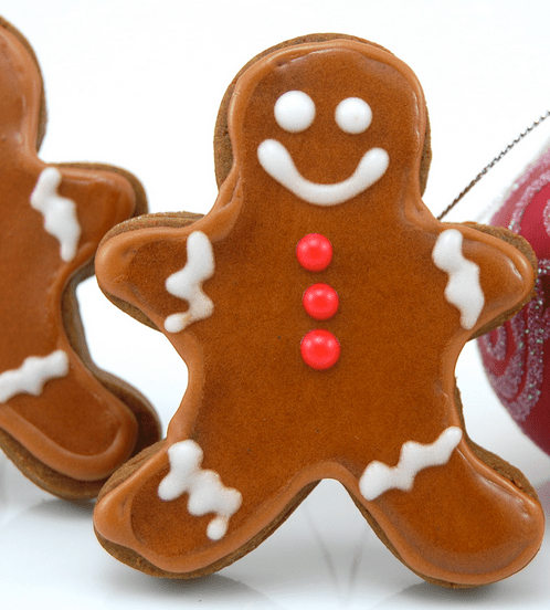 Cute Gingerbread Men With Smily Face Png Cake