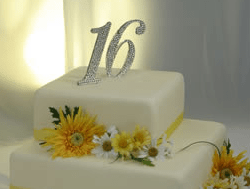16 Anniversary Cake Topper Picture Png