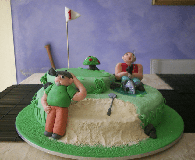 Golf And Fishing Fathers Day Cake Picture With Funny Cake