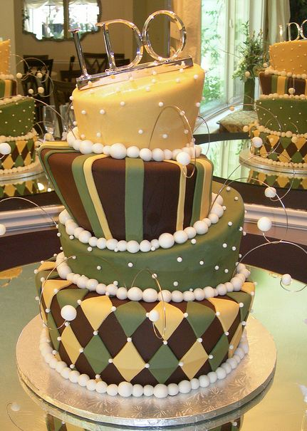 Four Tier Topsy Turvy Wedding Cake With I Do Topper 2