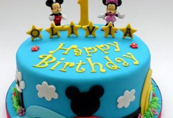 Mickey Minnie Mouse First Birthday Cake In Bluejpg Hi Res 720p Hd