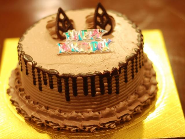 Round Chocolate Cream Birthday CakeJPG 1 Comment Hi Res 720p HD