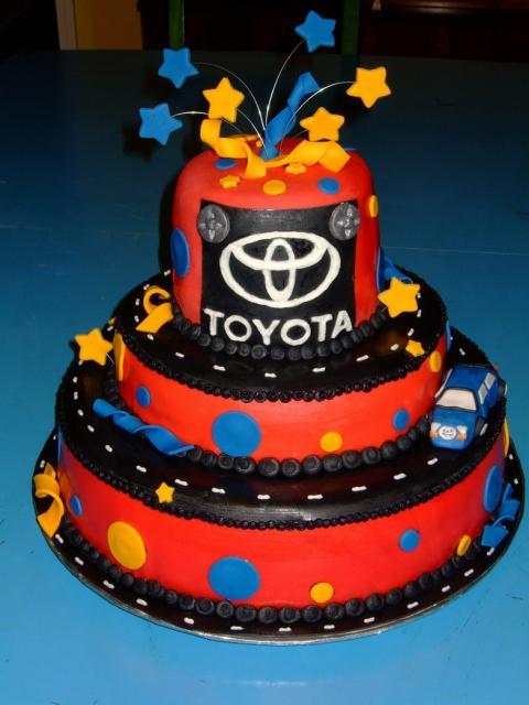 Colorful Toyota Retirement Cake Jpg Hi Res 720p Hd